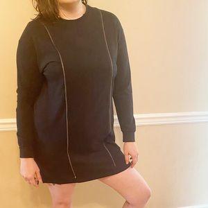 MM6 black zipper dress